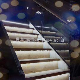 尚步楼梯双边钢板U型楼梯