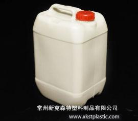 食品级10L吹塑容器 带盖易堆放化工塑料方桶