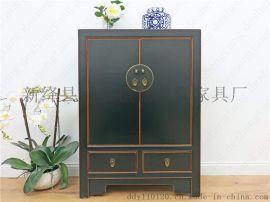 德盛堂中式古典实木古家具二屉二门鞋柜玄关柜门厅柜备餐台装饰柜