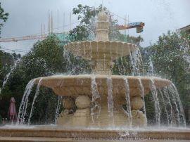 政府广场景观砂岩喷泉流水音乐灯雕塑定制厂家
