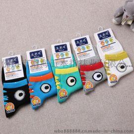 純棉兒童襪 純棉中筒卡通童裝襪 五本指品牌童襪