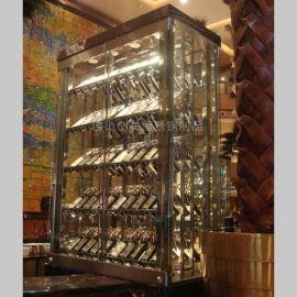 酒店会所不锈钢酒架 专卖店不锈钢酒架 质量稳定 美观持久