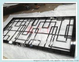 鑫立丰镜面黑钛金不锈钢屏风隔断 厂家定制不锈钢屏风