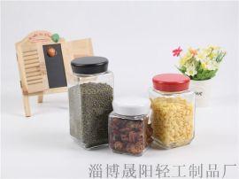 方瓶圆口三件套  厨房储存罐   玻璃瓶罐   厂家加工定制  外贸出口