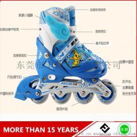 溜冰鞋儿童男女直排轮旱冰轮滑鞋可调3-4-5-6-10岁