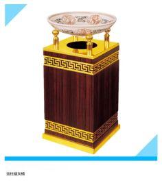 高档酒店大堂宝柱烟灰桶 电梯口果皮桶 立式烟灰缸垃圾桶