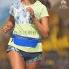 产地货源蓝色跑步运动贴身隐形防盗腰包 多功能莱卡料户外腰包