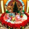 厦门玥诚圣诞节商场中庭摆饰道具定制 圣诞蘑菇 圣诞鹿