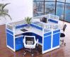 办公家具桌四人屏风隔断职员办公桌椅4人组合工作位时尚简约屏风卡位