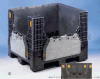 重型折疊箱超大型託盤式卡板箱塑料可折疊周轉箱1200*1000*975