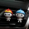 可爱卡通机器猫大白车载空调出风口香水夹 创意车内饰品