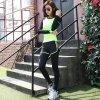 春夏韩版新款运动健身舞蹈修身瑜伽假两件九分裤厂家直销