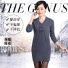 秋冬新款 纯羊绒衫女中长款套头毛衣韩版修身针织衫女