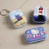 加工定制畅销迷你马口铁小铁盒带钥匙圈 赠品礼品