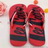 夏季男士织带沙滩人字拖红色夹脚拖鞋韩版休闲防滑学生户外凉拖大 码