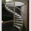 佛山尚步梯业 旋转楼梯 实木扶手 玻璃护栏室内楼梯