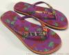 (厂家直销)夏季人字拖 夹拖 糖果色 花色沙滩外穿防滑女鞋
