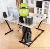 简约转角学习桌钢木台式电脑桌家用电脑台办公桌