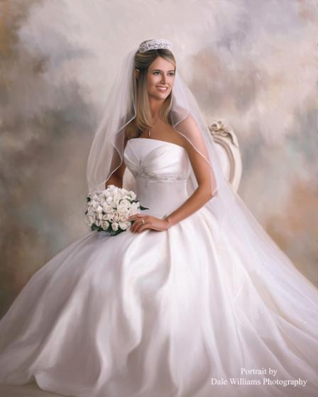 婚纱肖像系列纯手绘油画