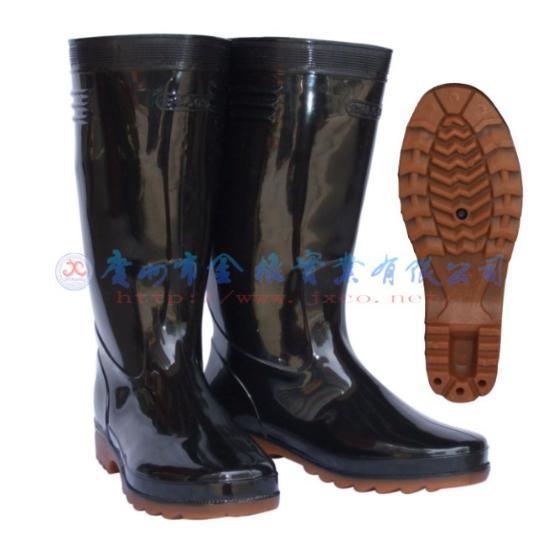金橡男式高筒雨鞋