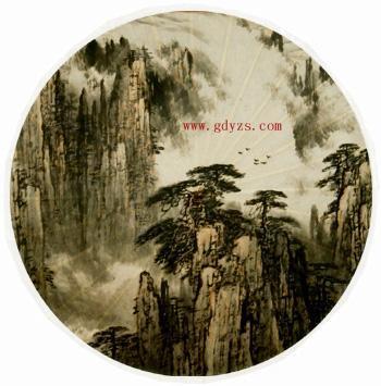 《山水画》江南油纸伞