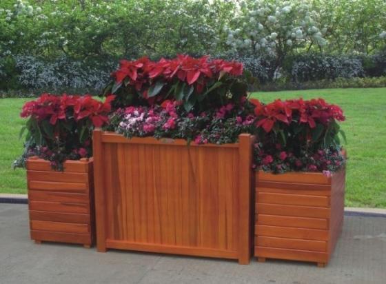 户外木制组合花箱