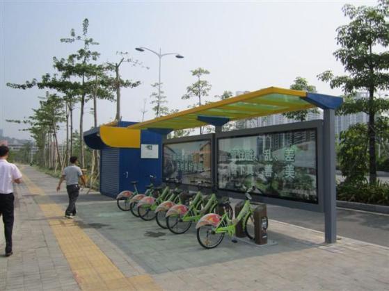 自行车棚设计,简易自行车棚结构