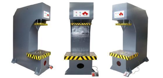 单柱校直压装液压机图片