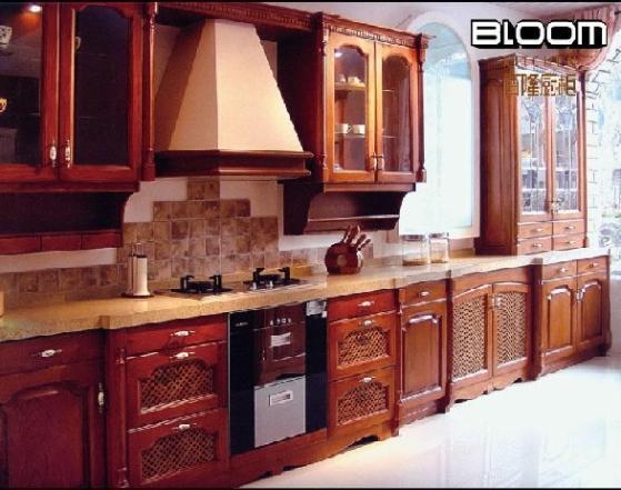 中式风格实木橱柜图片