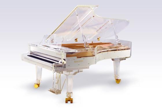进口仿水晶三角钢琴