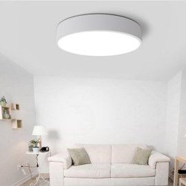 厂家批发北欧黑白圆形LED吸顶灯铁艺 书房办公室极简创意卧室灯具
