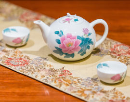 醴陵高端家用釉下五彩瓷茶具套装高档陶瓷茶具礼品瓷定制logo