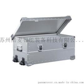 帶輪子可拖行的輪式裝備箱鋁鎂合金運輸箱