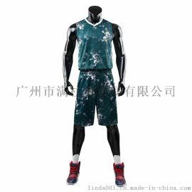 新款篮球服套装比赛服运动服训练服8801