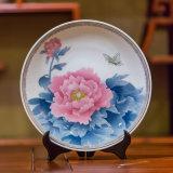 醴陵手绘陶瓷大盘 观赏大瓷盘 醴陵陶瓷挂盘厂家定制