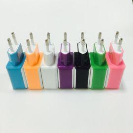 定制手机充电头2A 适用于智能手机双usb充电器 旅行欧规充电器