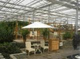 供应山东莱芜玻璃连栋温室建设 生态餐厅建设