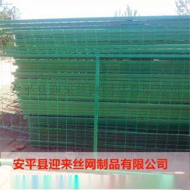 浸塑現貨護欄網,高速公路護欄網,綠色包塑護欄網