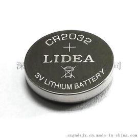 自行車燈3V鋰錳紐扣電池CR2032
