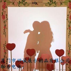 情人节爱心橱窗展示道具厂家直销  情人节橱窗道具定制
