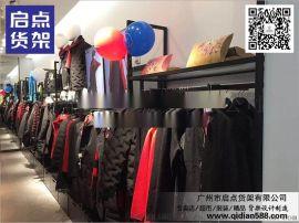 北京黑色烤漆服装货架专业布局,卡门货架厂家