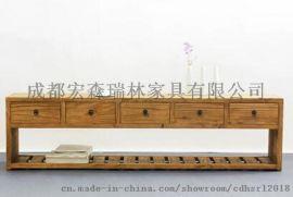 新中式沙發樣板房客廳沙發組合 定制實木簡約小戶型中式沙發組合