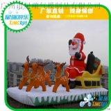 充氣耶誕節氣模聖誕老人雪人模型火車卡通人偶新年聖誕裝飾道具