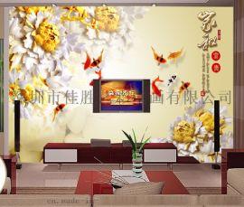 藝彩定制壁畫無縫牆紙牆布