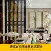 寧波酒店餐廳不鏽鋼隔斷屏風|大堂卡座屏風裝飾屏風