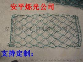 镀锌覆塑石笼网 河道护坡覆塑石笼网