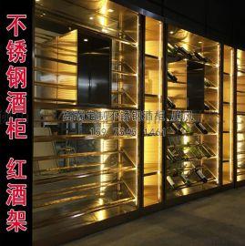 专业制作不锈钢玻璃酒柜