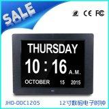 12寸大屏电子时钟日历数码相框 支持多国语言 外贸热销电子礼品