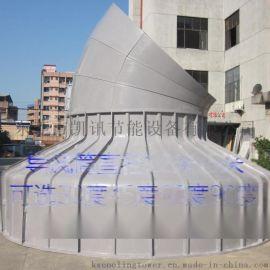 玻璃鋼冷卻塔導風筒/消音彎頭/風曲1.2米-5米直徑