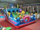 户外大型儿童游乐设备海底世界充气滑梯蹦跳床城堡